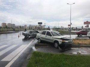 Kaykop kavşağında trafik kazası: 5 yaralı