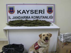 KAYSERİ'DE YOLCU OTOBÜSÜNDE ESRAR ELE GEÇİRİLDİ