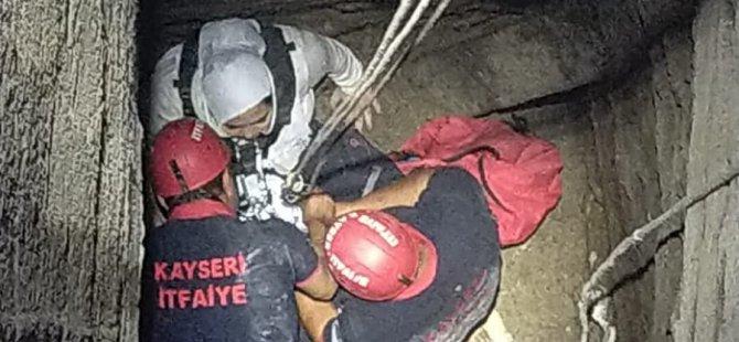 Kuyuya düşen genç kız yaralı olarak kurtarıldı