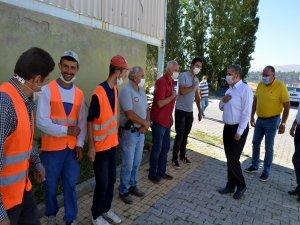 Bünyan Belediye Başkanı Altun belediye personeliyle bayramlaştı