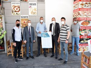 KTO Başkanı Gülsoy'dan Hunat Çarşısı'nda korona virüs denetimi