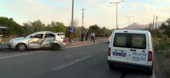 Eğribucak'ta korkutan kaza: 2 yaralı