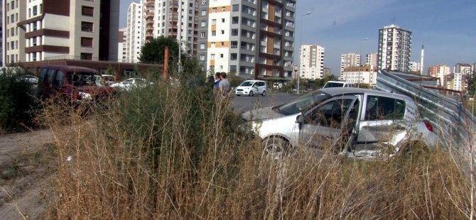 Kocasinan'da otomobiller çarpıştı: 1 yaralı