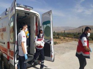 Yahyalı'da minik bebek hava ambulansı ile hastaneye yetiştirildi