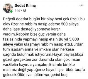 """SEDAT KILINÇ KAYSERİLİ İŞ ADAMLARINA SESLENDİ : """"ÖLÜM VAR ÖLÜM"""""""
