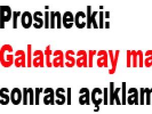 Prosinecki Galatasaray maçı sonrası açıklamalar yaptı
