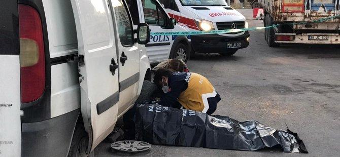 Anbar nakliyeciler'de Aracının lastiğini değiştirmek isteyen adam ölü bulundu