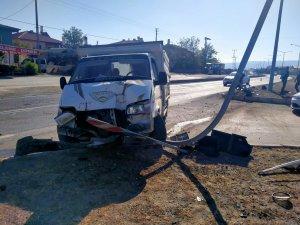 Yeşilhisar'da kaza duramadı başka araca çarptı