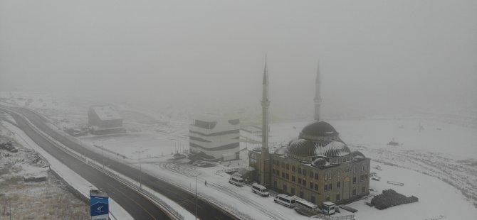 Erciyes'e kar düştü! bu kış çok fena geçecek