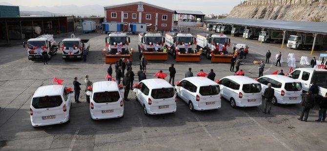 Melikgazi 34 adet yeni aracı belediye araç filosuna kazandırdı