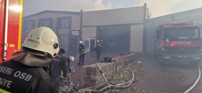 Kayseri Osb'de ahşap fabrikasında yangın
