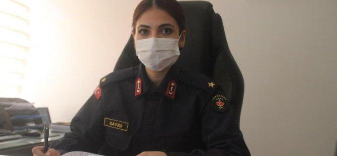 Hacılar'ın ilk ve tek kadın jandarma komutanı