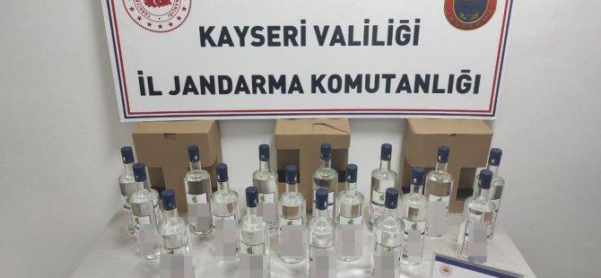 Melikgazi'de bir işletmede kaçak alkol