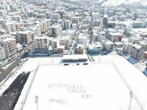 Develi Stadı her şey güçlü Türkiye için