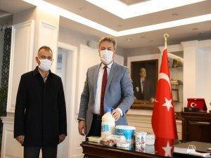 Başkan Palancıoğlu'ndan Hunat süt'e tam destek