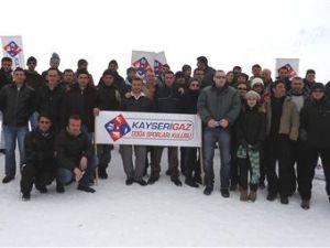 Kayserigaz Erciyes dağını ısıttı