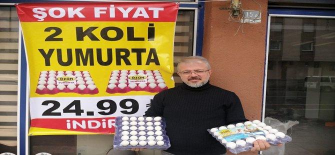 Vatandaşlara müjde! 2 koli yumurta  25 TL ..
