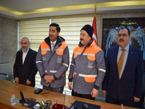 Hizmet İş Başkanı Çelik'ten Başkan Palancıoğlu'na teşekkür