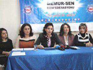 Memur-Sen Kayseri  Kadın Kolları Başkanı Ayten Özsoy Açıklaması