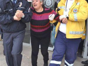 Kayseri Adliyesinde Oğlunun Tutuklanmasına Dayanamadı