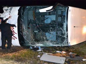 Yolcu Otobüsü kazası: 25 Yaralı