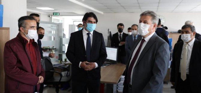 Başkan Palancıoğlu, belediye personeli ile bayramlaştı