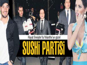 Galatasaraylı Sneijder önceki akşam evinde sushi partisi düzenledi
