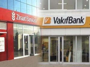 Kayseri'de Ziraat Bankası ve Vakıfbank'ta sosyal mesafe kuralına uymadılar