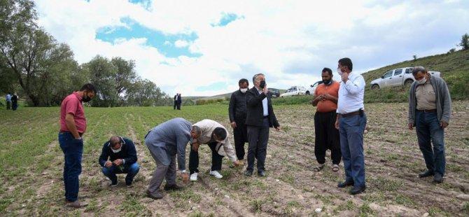Kocasinan'da Selden zarar gören arazilerde inceleme yapıldı