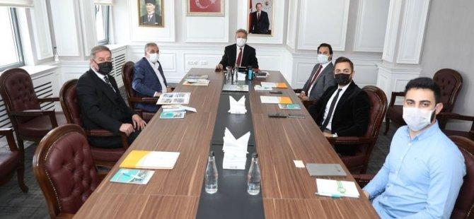 Başkan Palancıoğlu GES firma yetkilileri ile bir araya geldi
