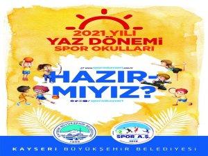 Kayseri Büyükşehir'in yaz spor okul kayıtları başladı