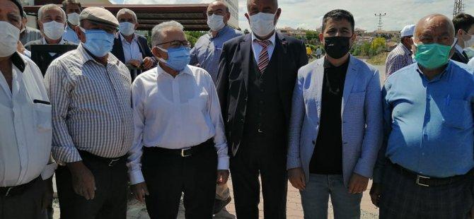 Başkanlar Büyükkılıç ve Çolakbayrakdar,  Ebiç'te
