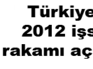 Türkiye'nin 2012 işsizlik rakamı açıklandı