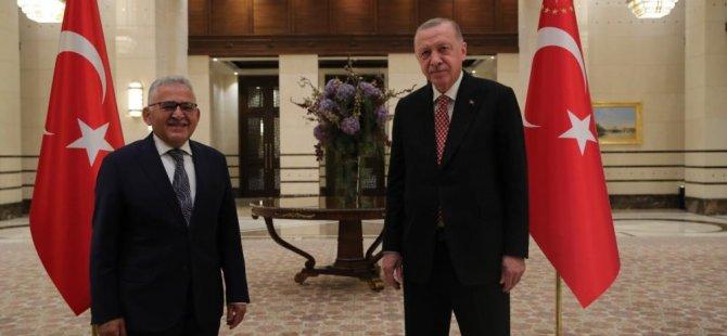 Erdoğan, Başkan Büyükkılıç ile görüştü