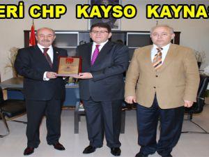KAYSERİ CHP İL BAŞKANLIĞI KAYSO'YU ZİYARET ETTİ