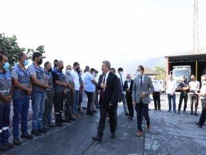 Başkan Palancıoğlu, ilk mesai gününde personel ile bayramlaştı