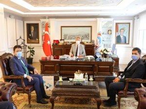 Türk Telekom müdürü Özdoğan'dan,Palancıoğluna ziyaret