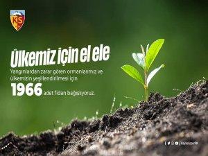 Kayserispor'dan bin 966 fidan