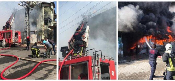 Muğla'da 3 katlı binadaki yangın söndürüldü