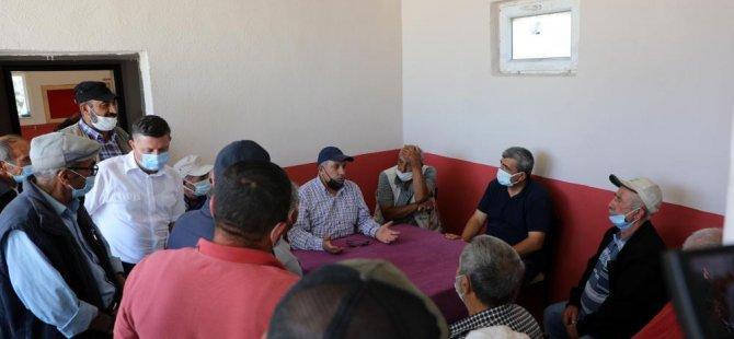Başkan Yalçın kırathane'de vatandaşlar ile çay içti