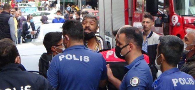 Sahabiye'de 12. kattan düşen bina görevlisi hayatını kaybetti
