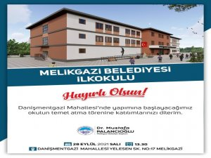 Melikgazi Belediyesi okul yatırımlarına devam ediyor