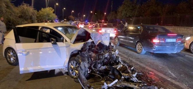 Melikgazi Altınoluk'ta feci kaza: 6 yaralı