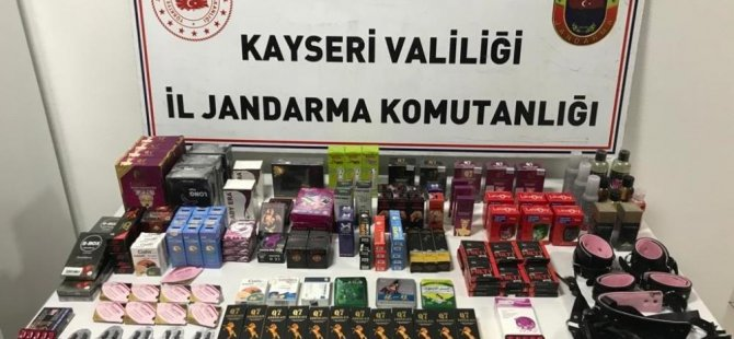 Kayseri'de kadın ve erkek azdırıcı ilaçları ele geçirildi