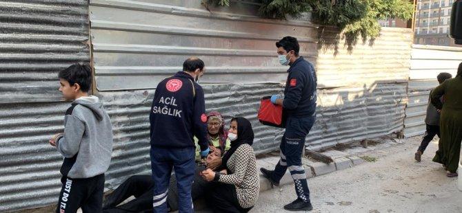 Mal canın yongası Sahabiye'de yangını gören bina sakini sinir krizi geçirdi