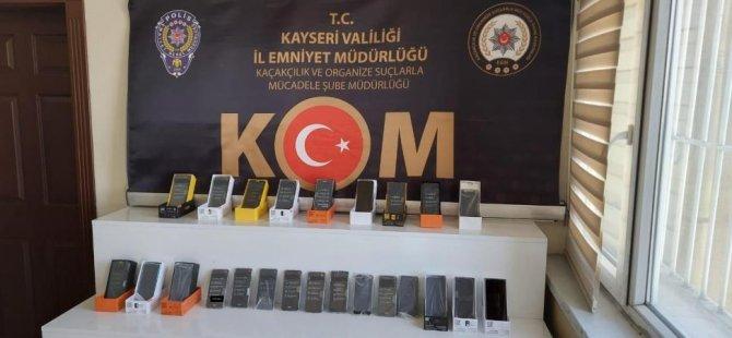 Kayseri'de telefon kaçakçısı 1 şahıs yakalandı