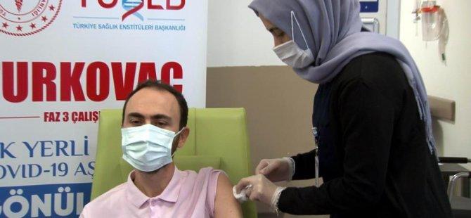 Turkovac'ın hatırlatma dozu Kayseri Şehir Hastanesi'nde uygulandı