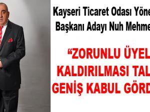Kayseri Ticaret Odası Yönetim Kurulu Başkanı Adayı Nuh Mehmet DELİKAN