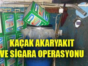 Kayseri'de Kaçak Akaryakıt ve Sigara Operasyonu