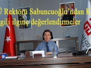 Sabuncuoğlu Kayseri'nin artıları da eksileri de çok